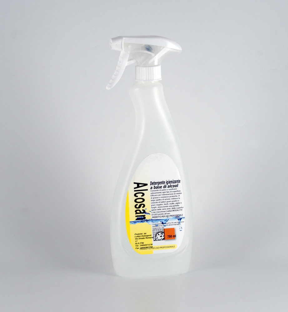 Alcosan Detergent Sanitizer Alcohol Pack Of 750 Ml