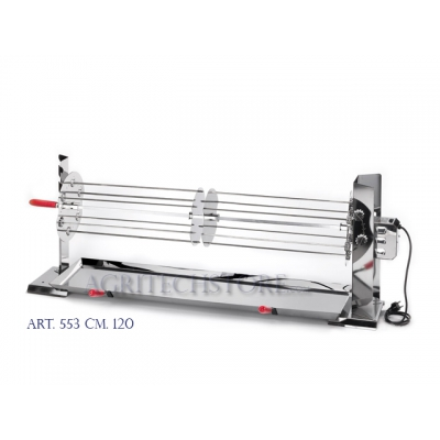 "Fireplace rotisserie stainless steel 120 cm. ""A.553"""