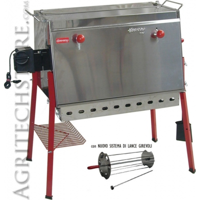 Rotisserie Brescia Inox.Cm. 70 to 6 lances Art.543