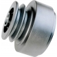 Centrifugal clutch pulley diameter 77 mm. A throat