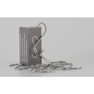 Stainless steel hook 80x3 Set of 10 Pcs