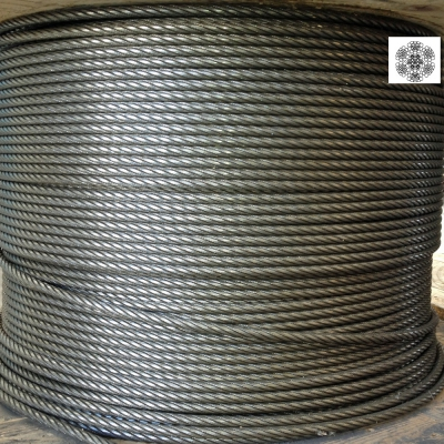 Hammered rope Ø 9 mm 156 wires