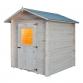 Wooden house Cm. 200x200 interlocking Mod. Pistachio