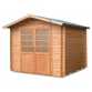 Wooden house Cm. 250x250 interlocking Mod. Neptune