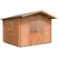 Wooden house Cm. 300x300 interlocking Mod. Giove