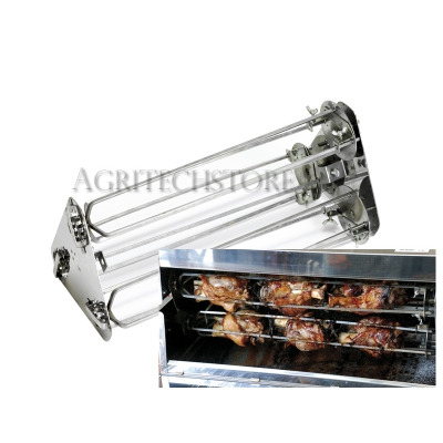 Portastinchi and Galletti kit Rotisserie from 100 cm to 6 Lance