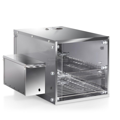 Compact Pro smoker in stainless steel