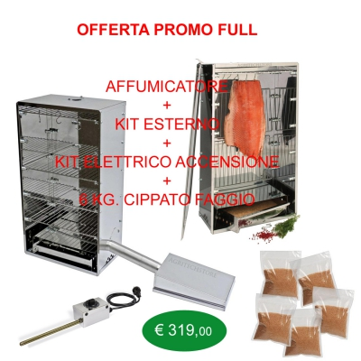 Smoker Offer Full external kit, starter kits and 6 Kg.Cippato