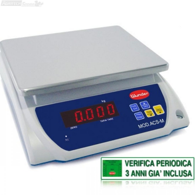 "Scales Table ""Certified"" Multipurpose Range 6/15 kg"