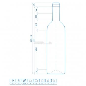 Bottle Bordeaux STD Cl. 75