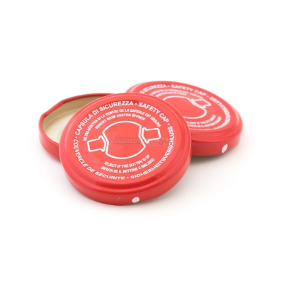 53 mm Twist Off Locking Cap with safety clip