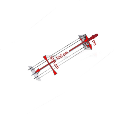 Sunburst satellite Rotisserie 4 Lance 100 cm. 0546B + Auction