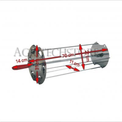 Sunburst satellite Rotisserie 70 cm. 0531 + Auction